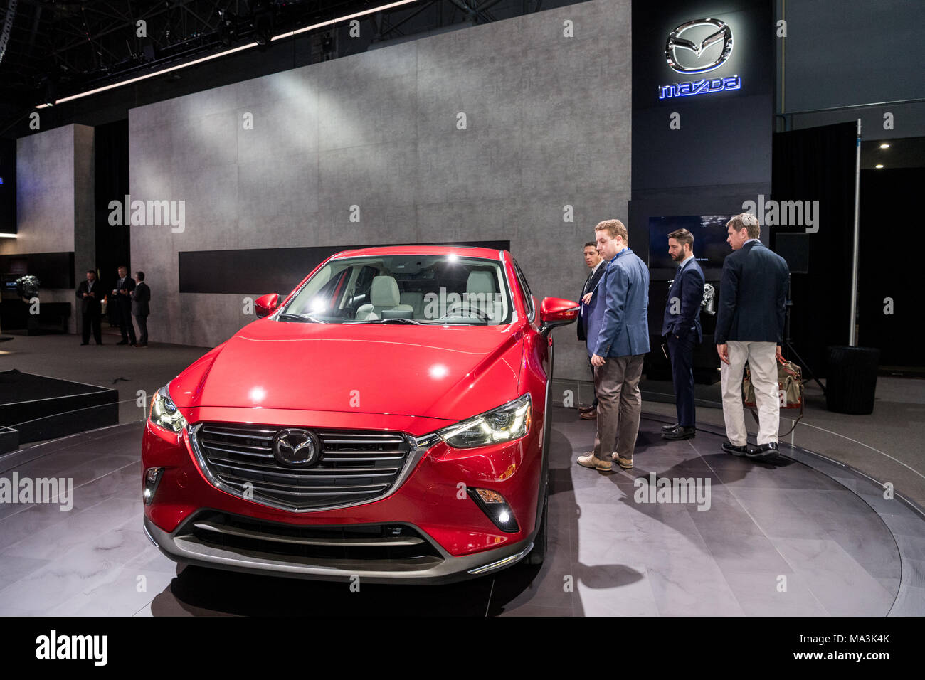 The Mazda CX At The New York International Auto Show In New York - Auto convention