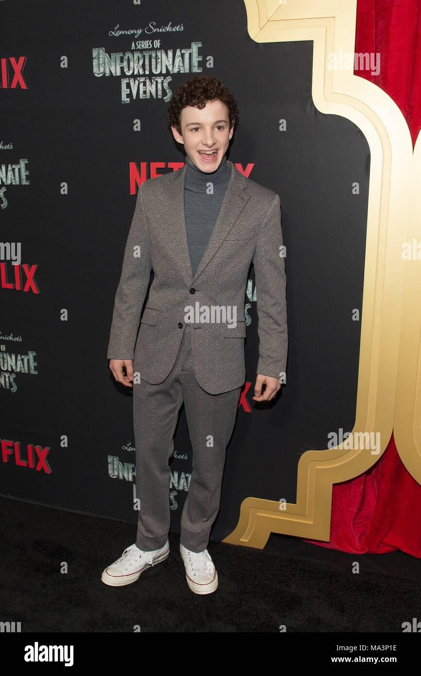 Netflix A Series Of Unfortunate Events Season 2 Premiere Stock