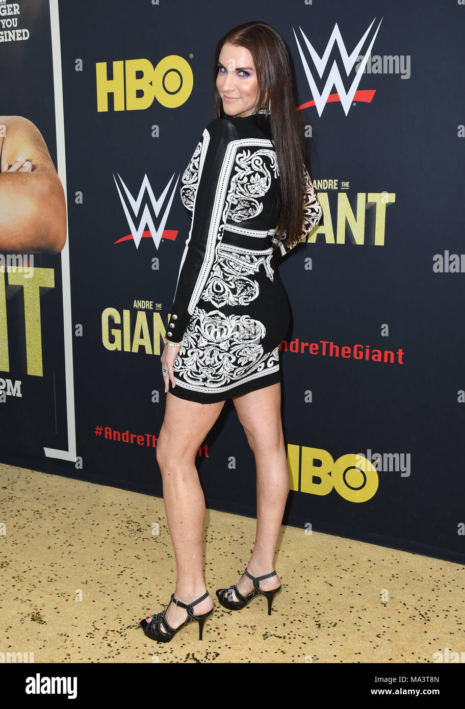 Hollywood, California, USA. 29th Mar, 2018. Stephanie McMahon. ''Andre the Giant'' Los Angeles Angeles premiere held at ACinerama Dome. Credit: Birdie Thompson/AdMedia/ZUMA Wire/Alamy Live News - Stock Image