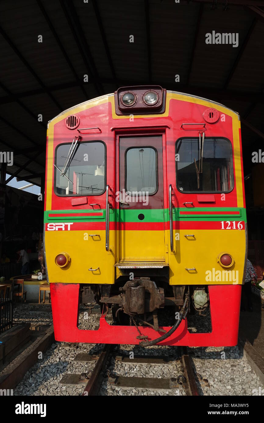 Model Train Wiring Services Car Diagrams Explained A Railway 26 February 2018 Thailand Samut Songkhram Stands At The Rh Alamy Com Railroad Basics Lessons