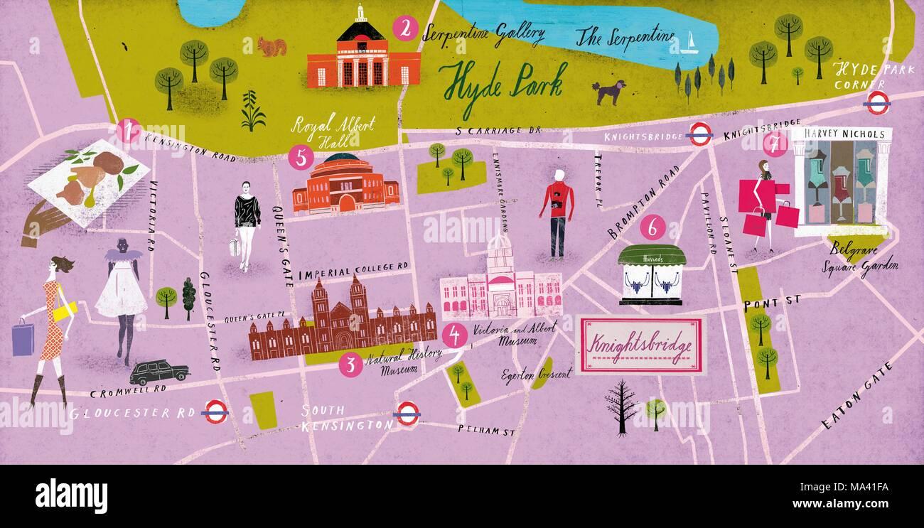 Knightsbridge London Map.A Map Of Knightsbridge London Stock Photo 178339262 Alamy