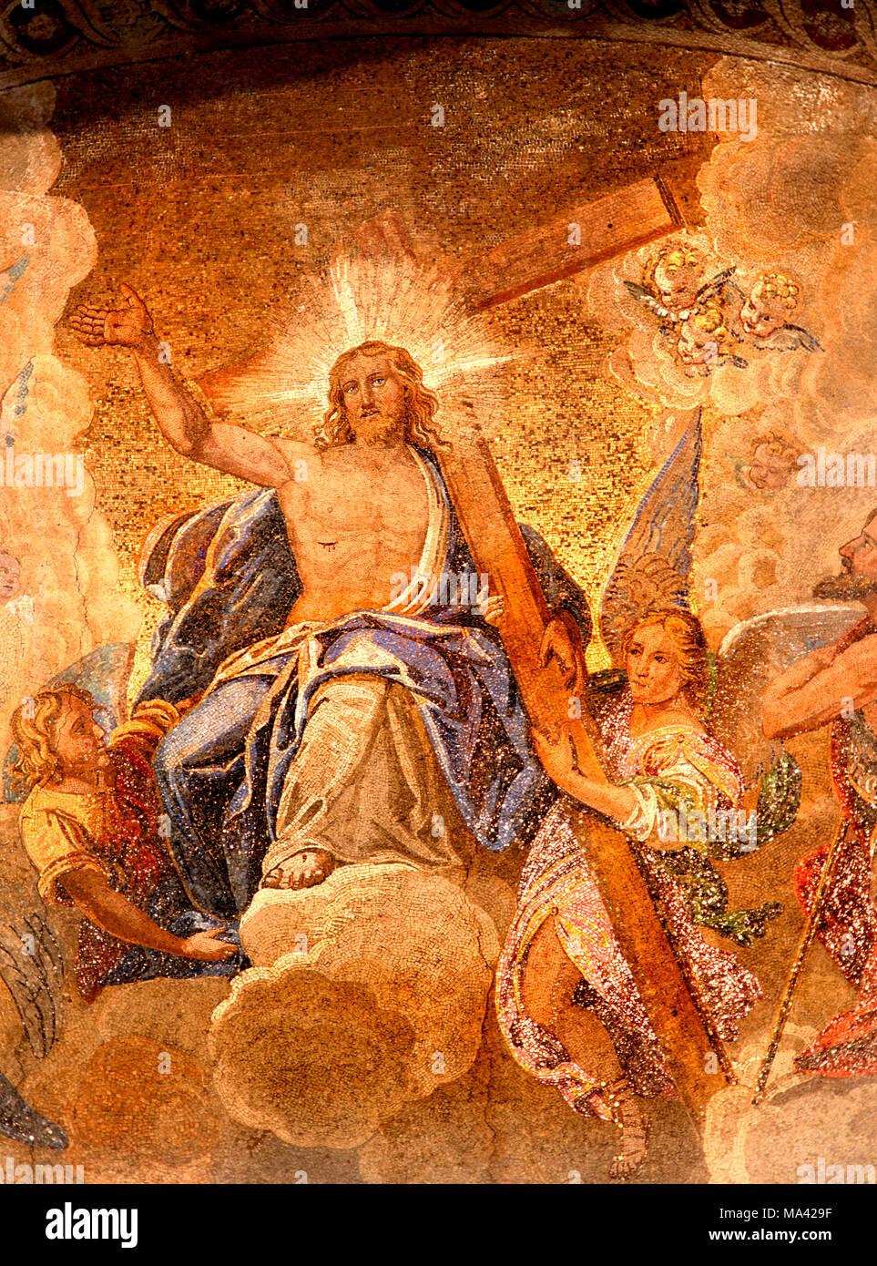 Venice, Veneto, Italy. Basilica di San Marco. Mosaic above central ...
