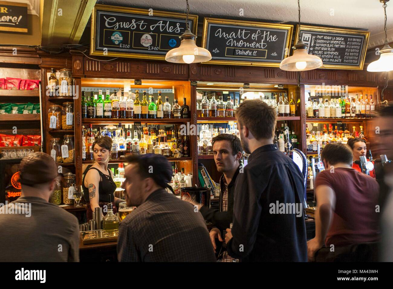 The Thistle Street Bar, Edinburgh, Scotland - Stock Image