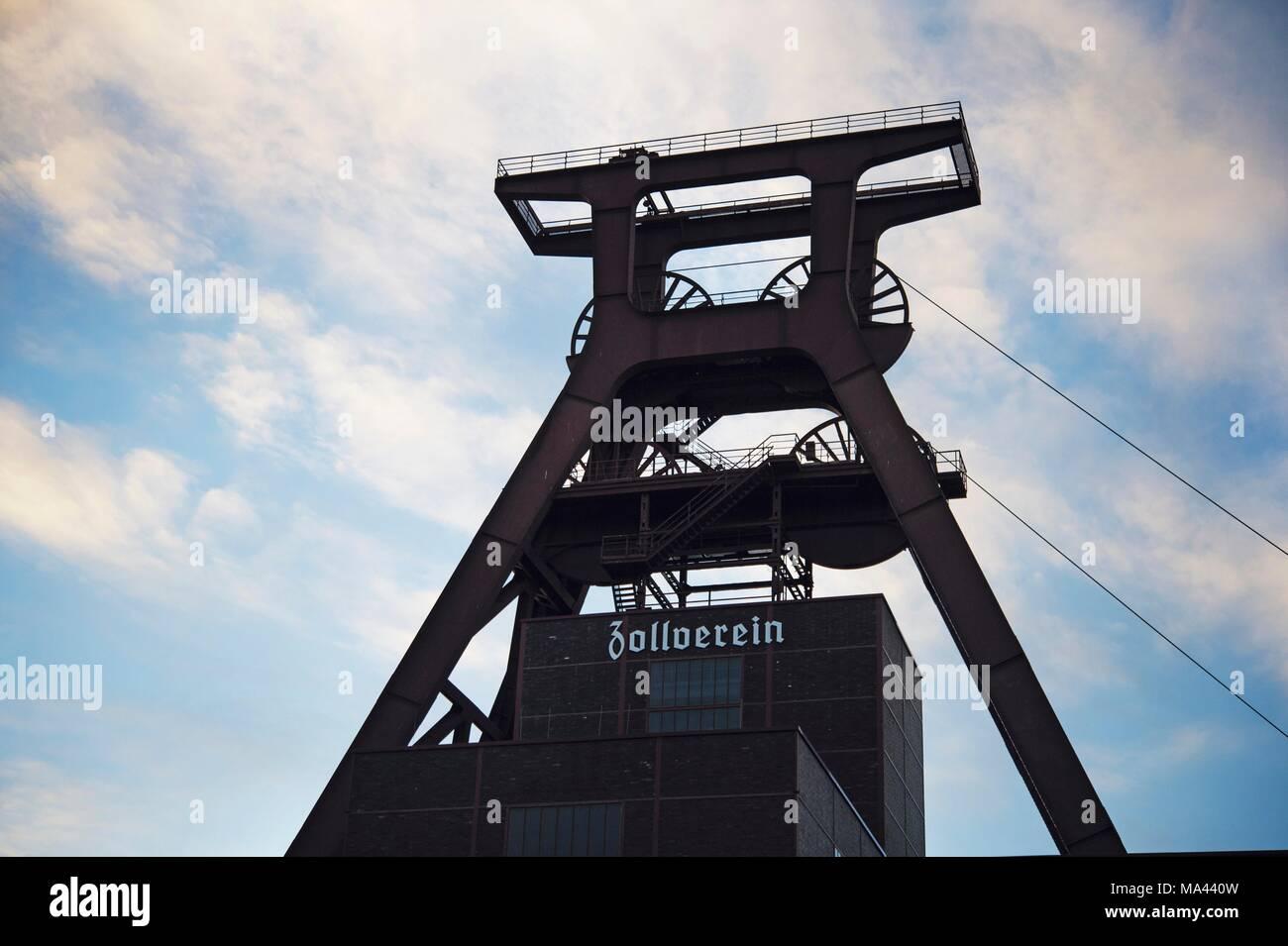 The Zollverein Coal Mine Industrial Complex, a UNESCO World Heritage Site, in Essen, North Rhine-Westphalia, Germany - Stock Image