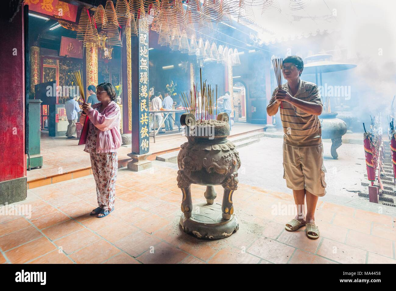 The Nhi Phu Temple in Cho Lon, Ho Chi Minh City, Vietnam - Stock Image