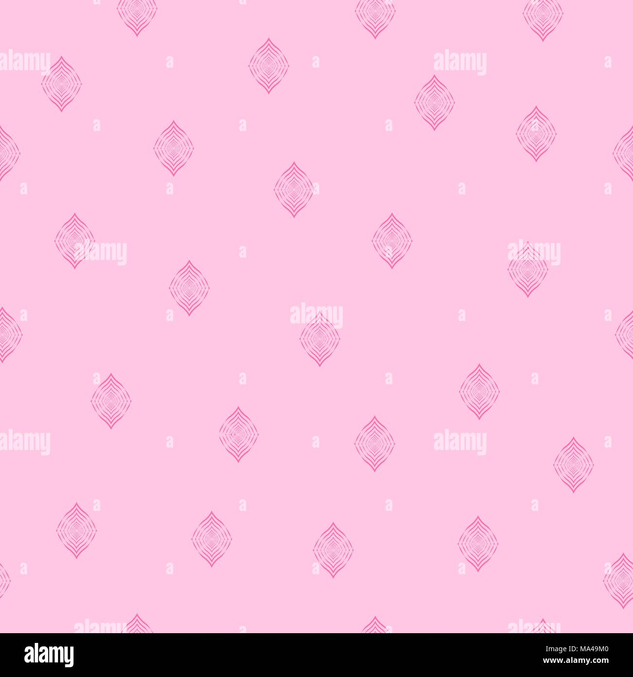 Seamless Pattern Pink Lines Geometric Vector Background. Pink Seamless