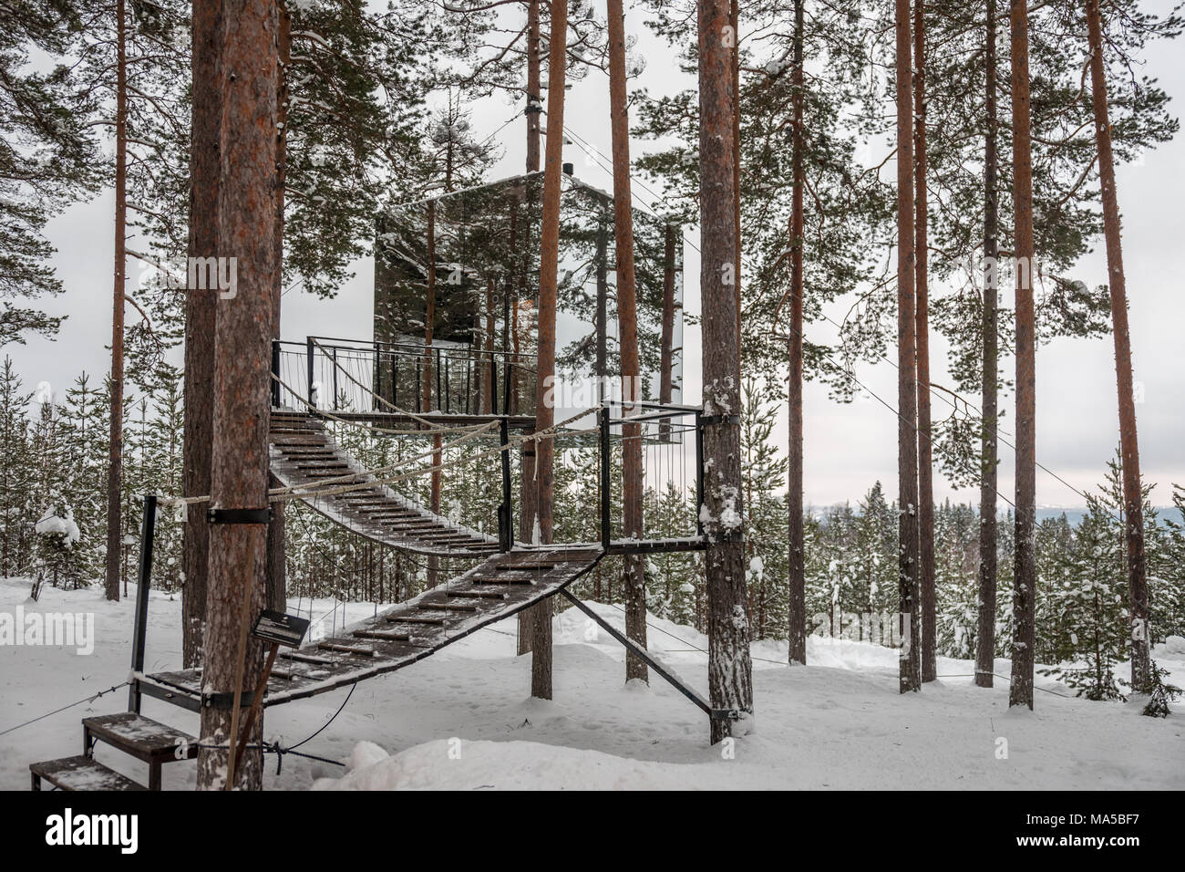 Tree Hotel In Harads Sweden Stock Photo 178369051 Alamy