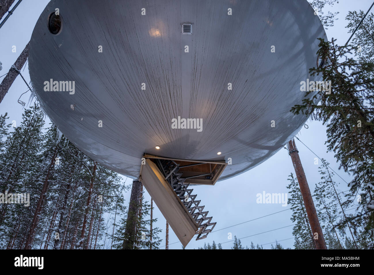 Tree Hotel In Harads Sweden Stock Photo 178369120 Alamy