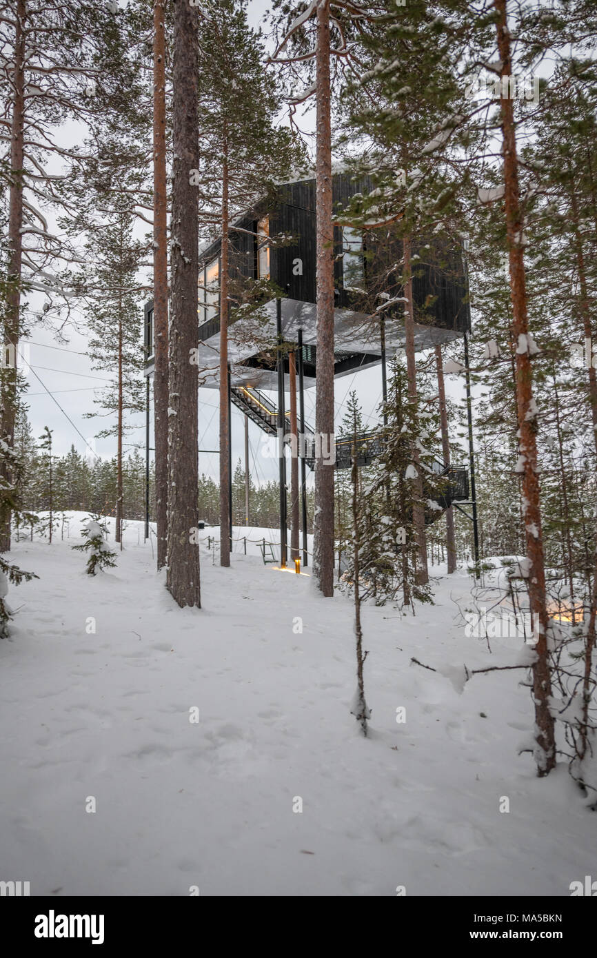 Tree Hotel In Harads Sweden Stock Photo 178369177 Alamy