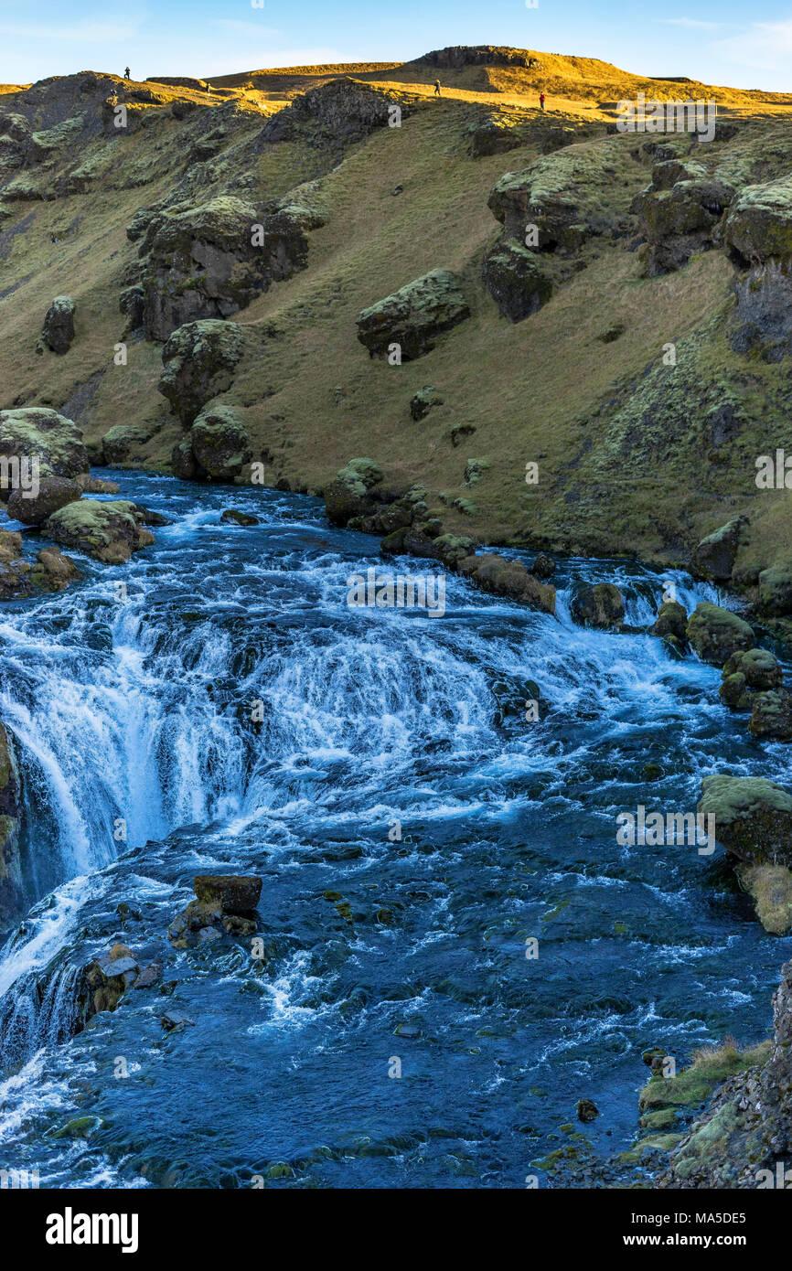 Europe, Northern Europe, Iceland, Skógar, Highlands, massive River in the Icelandic Highlands - Stock Image