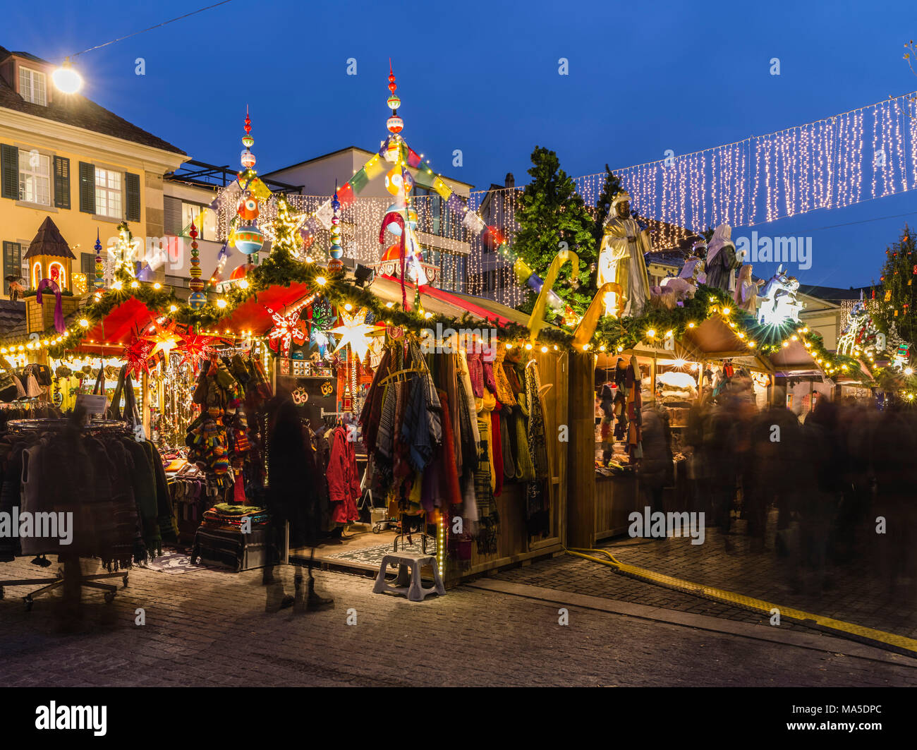 Christmas market in Winterthur - Stock Image