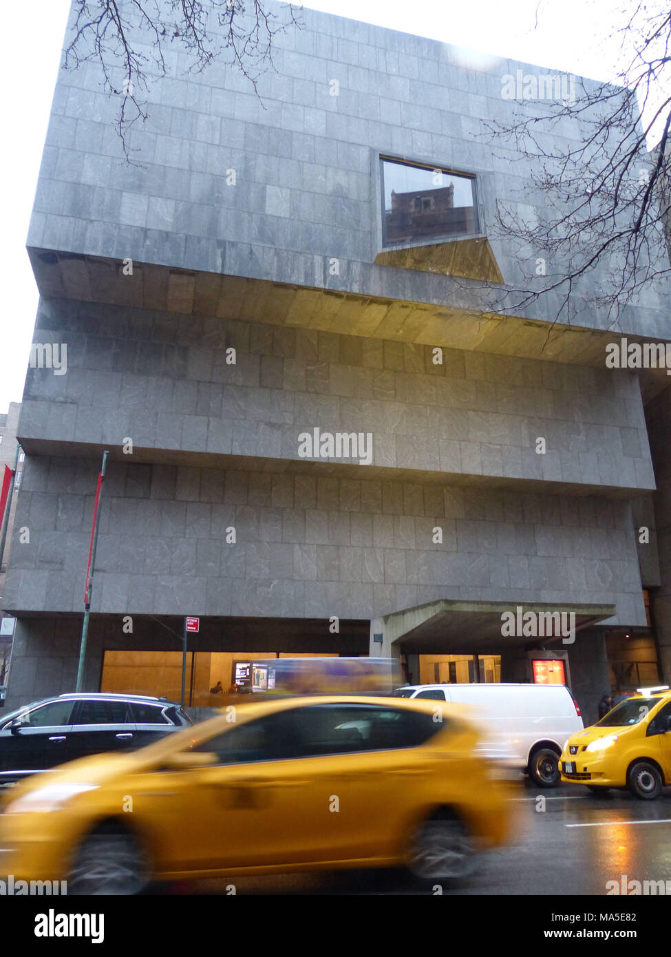 Whitney Museum of the American Art located at Madison Avenue and 75th Street. This museum was designed by Architect Marcel Breuer and since 2016 is leased by Metropolitan Museum of Art. It was originally commissioned by Gethrude Vanderbilt Whitney, an art lover and supporter - Stock Image