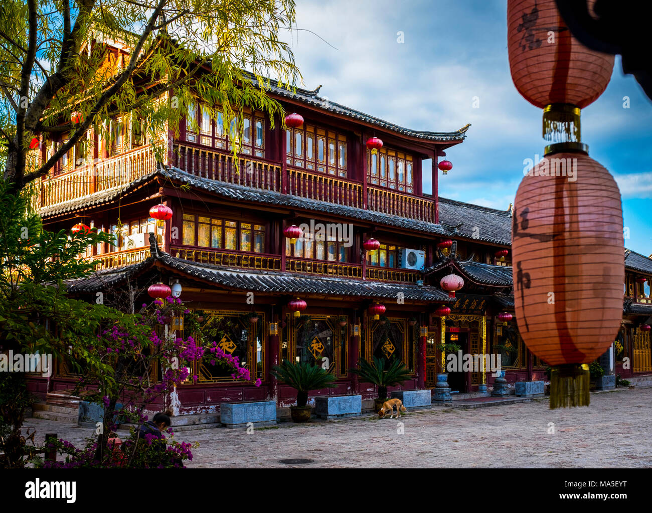 Old Town of Lijiang, Yunnan Province, China, Asia, Asian, East Asia, Far East - Stock Image