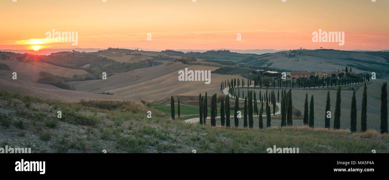 Podere Baccoleno, Asciano, Crete senesi, Tuscany, Italy Stock Photo