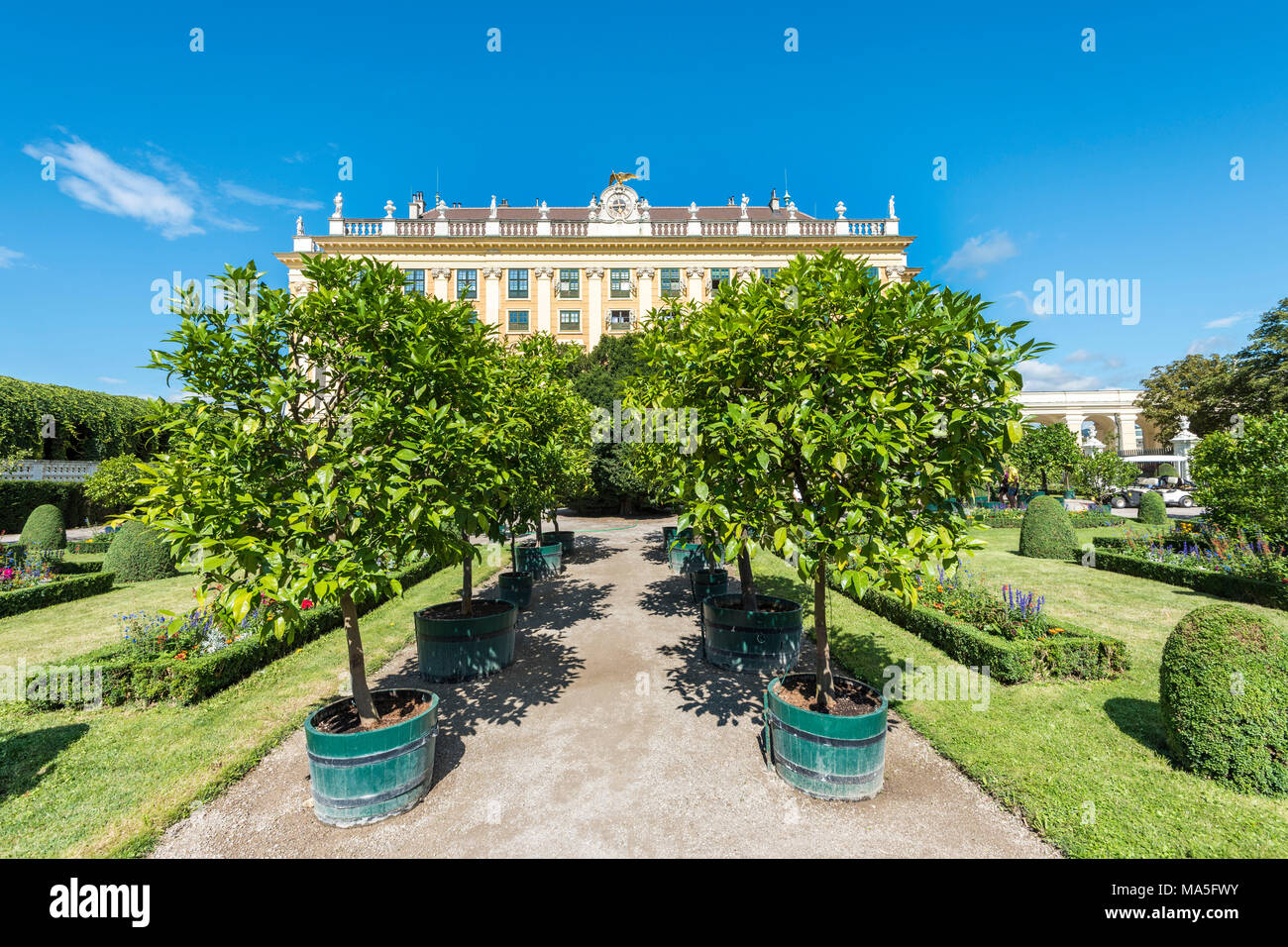 Vienna, Austria, Europe. The Schönbrunn Palace and the Privy Garden - Stock Image