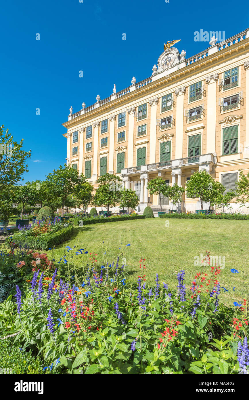 Vienna, Austria, Europe. The Schönbrunn Palace and the Crown Prince Garden (Privy Garden) - Stock Image