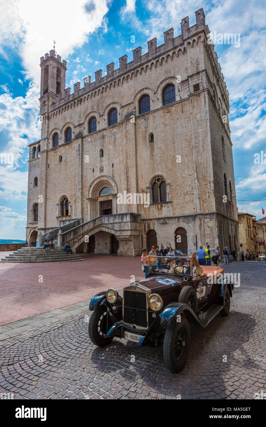 Italy, Umbria, Gubbio, Mille Miglia - Stock Image