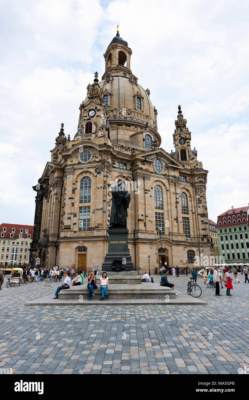 The Frauenkirche of Dresden, Saxony, Germany - Stock Image