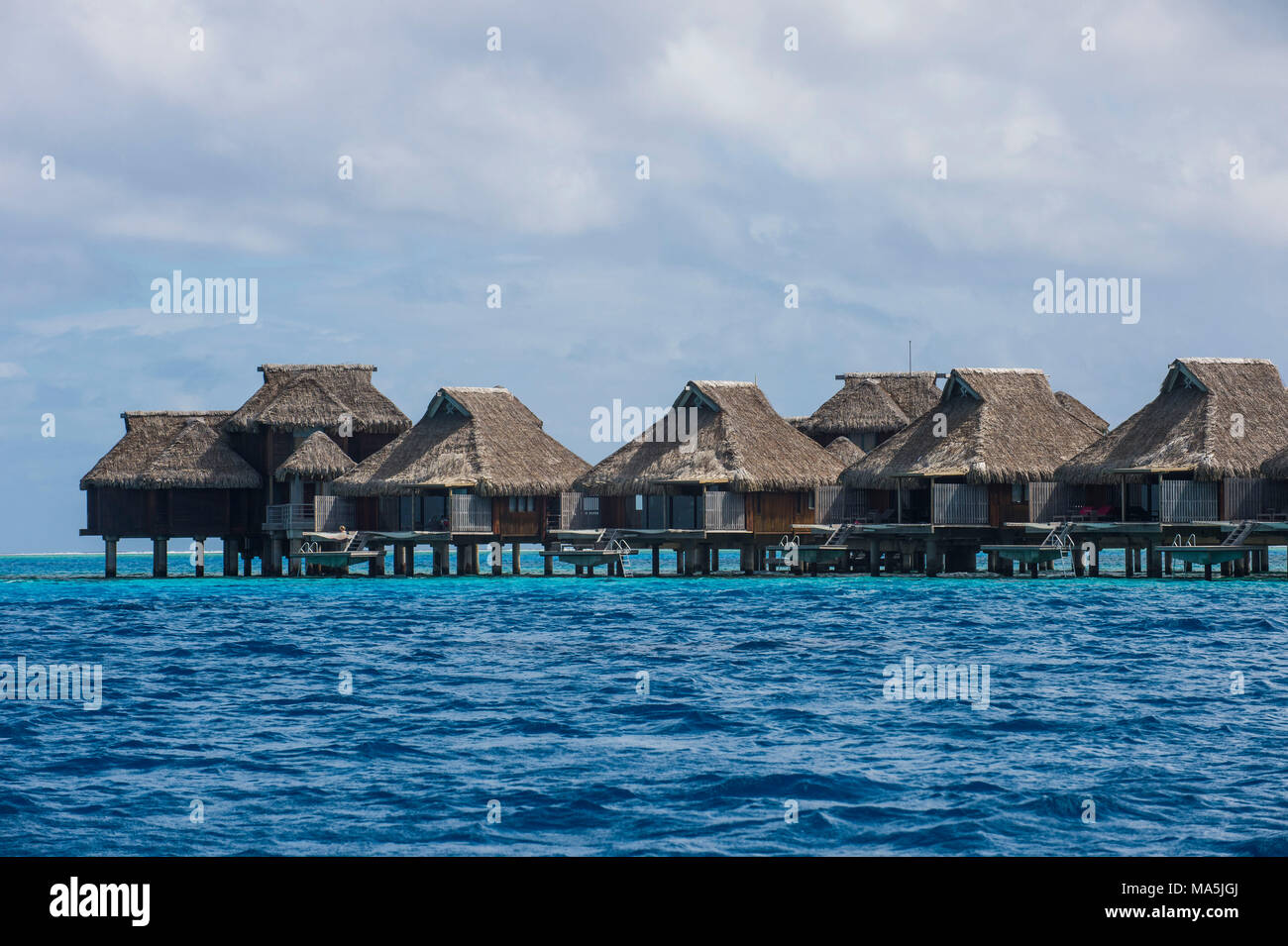 Overwater Bungalows In Luxury Hotel In Bora Bora French