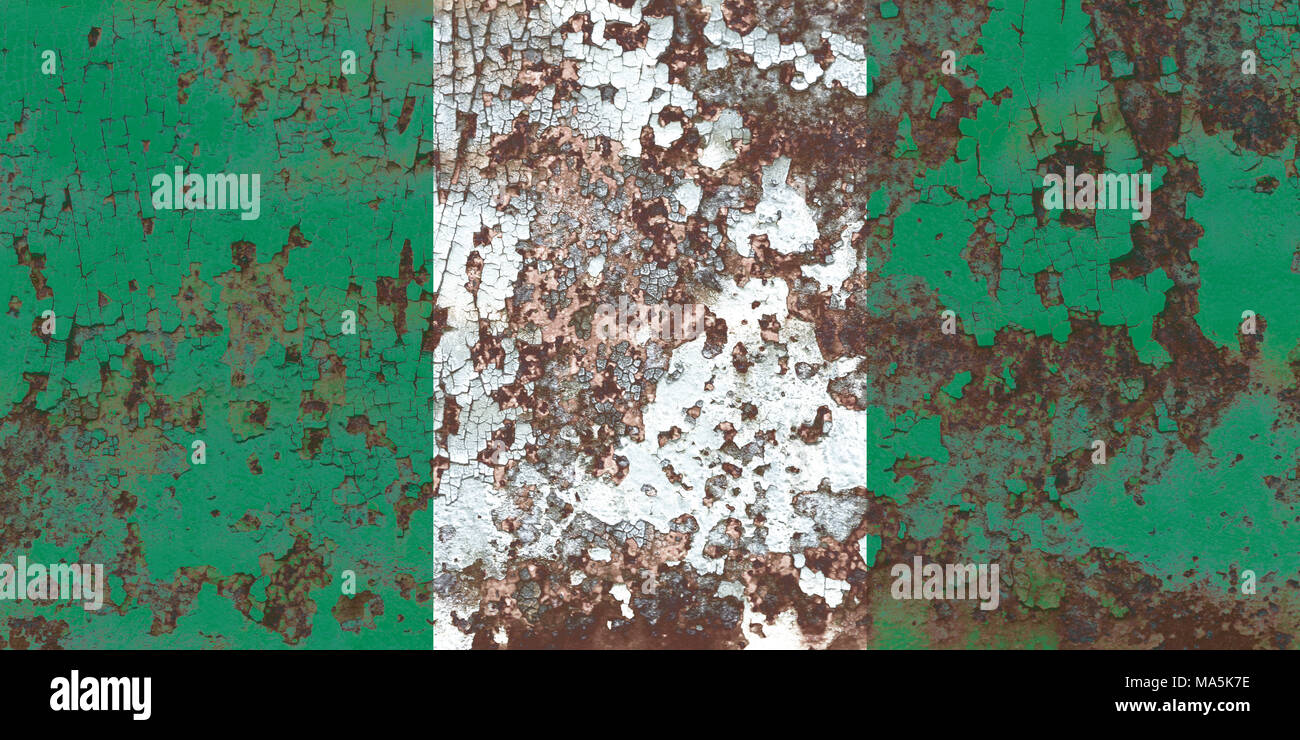 Old Nigeria grunge background flag - Stock Image