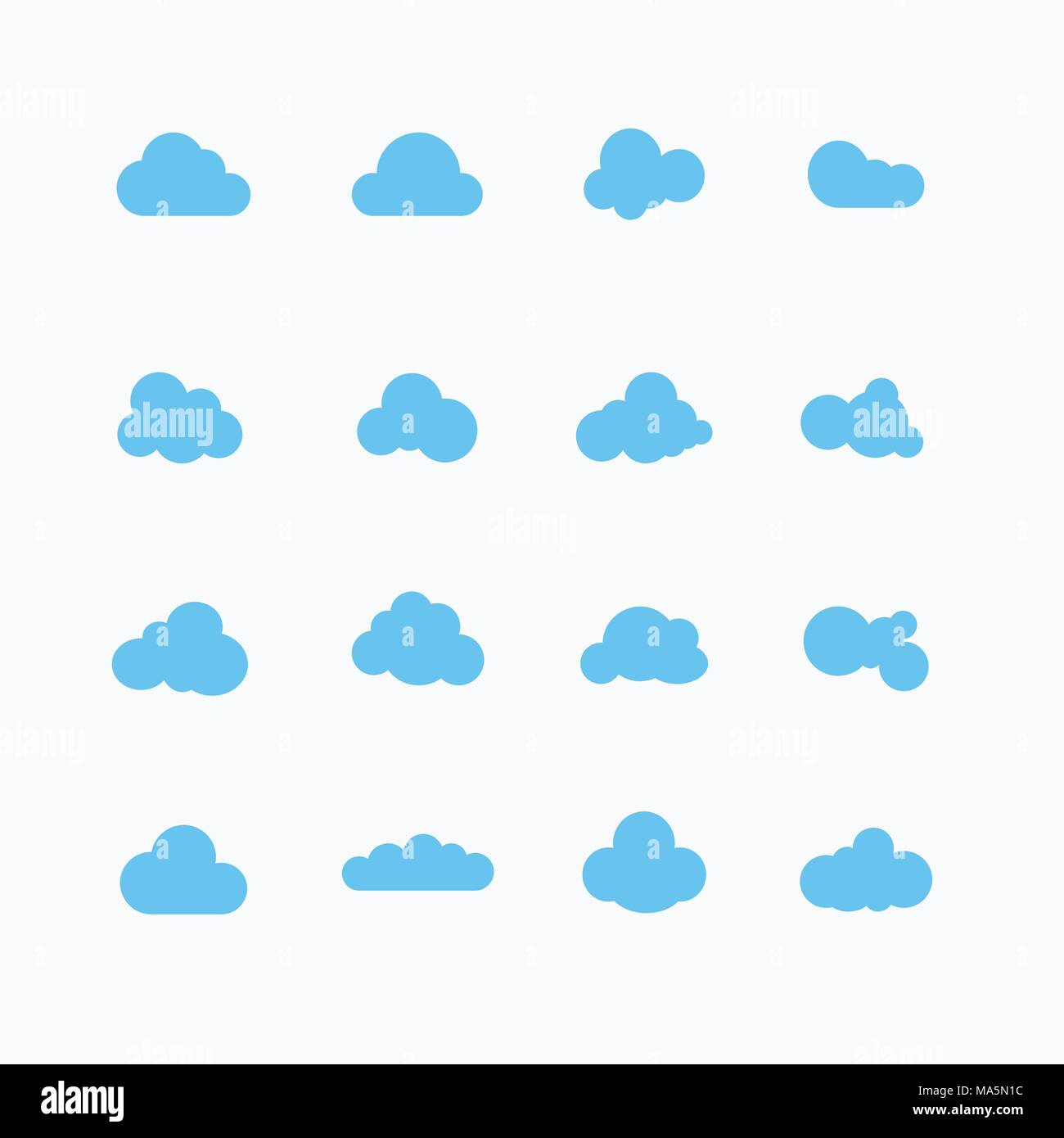 cloud speech bubble flat design Stock Vector Art