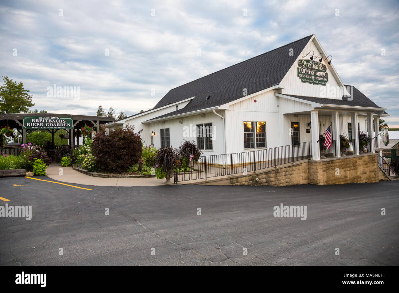Breitbach S Restaurant Balltown Iowa Country Food In A German Tradition Stock Photo Alamy