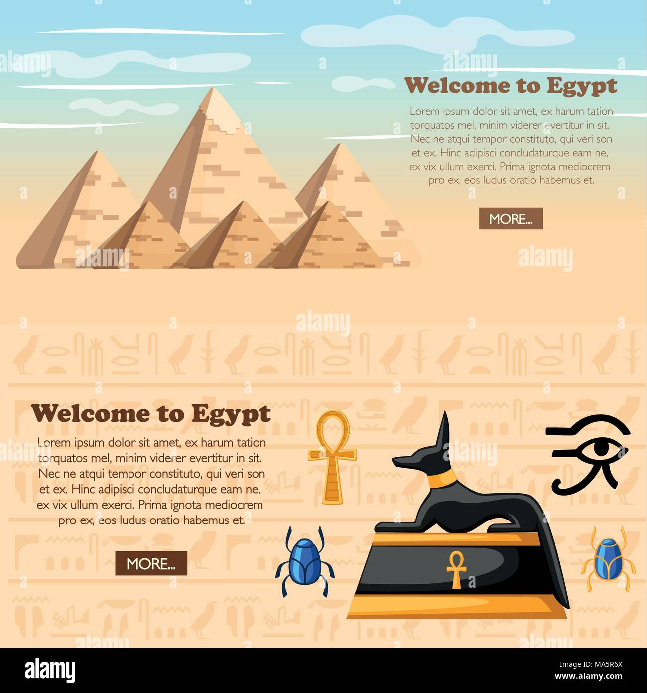 Travel Concept Welcome To Egypt Poster Ancient Egyptian