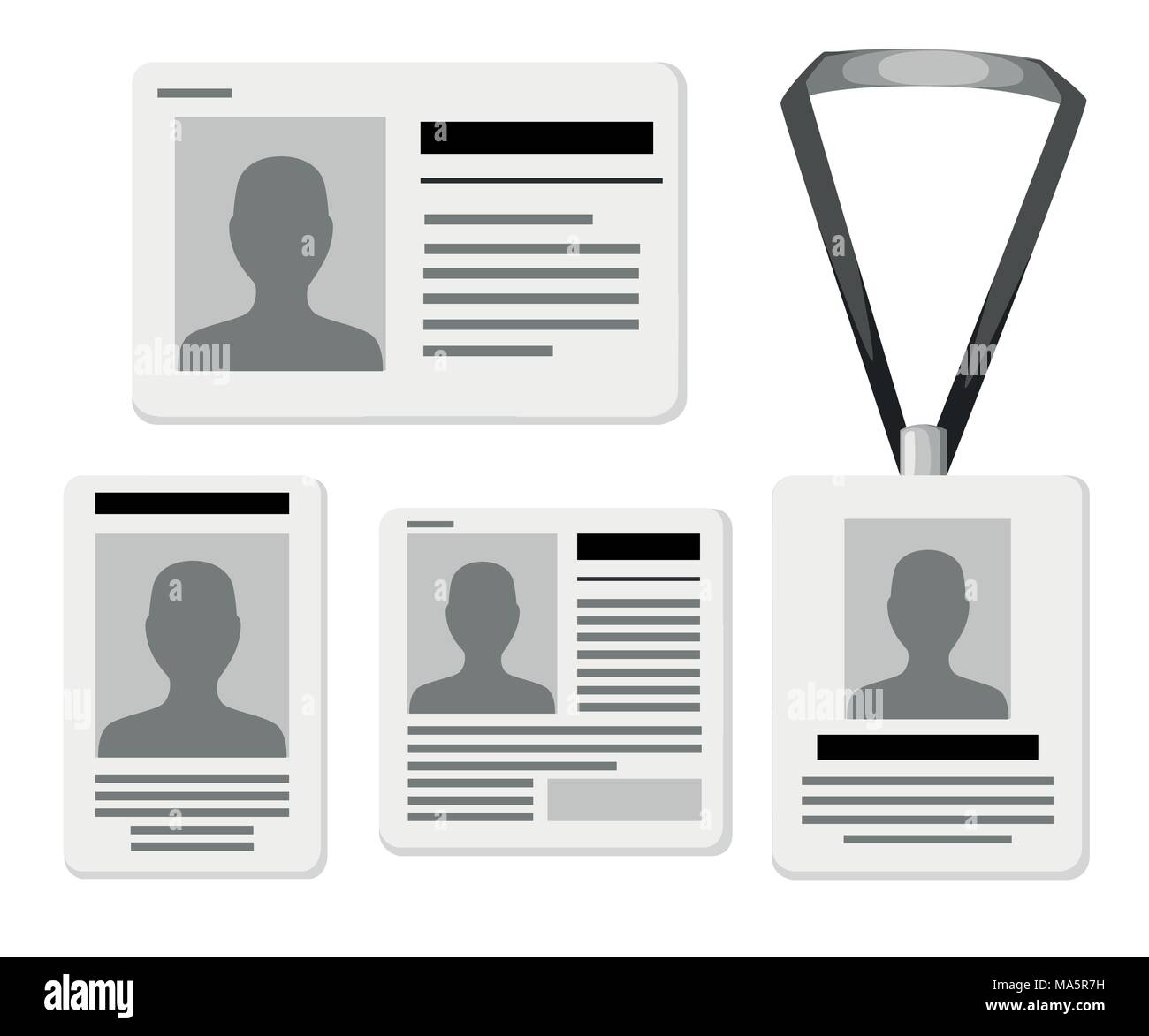 Press Badge Id Isolated Icon Stock Photos & Press Badge Id Isolated ...