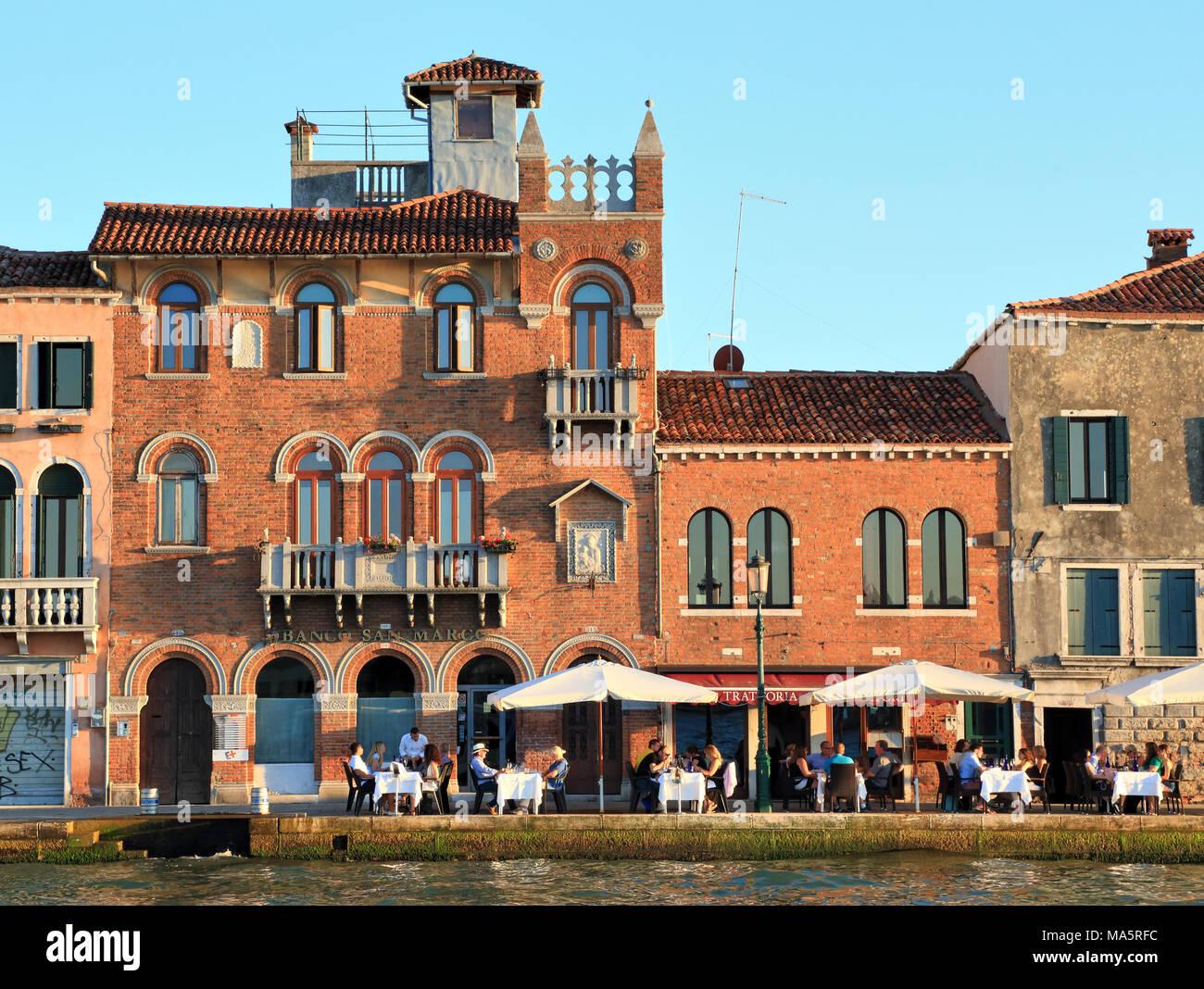 Restaurant 'Trattoria ai Cacciatori', Giudecca - Stock Image