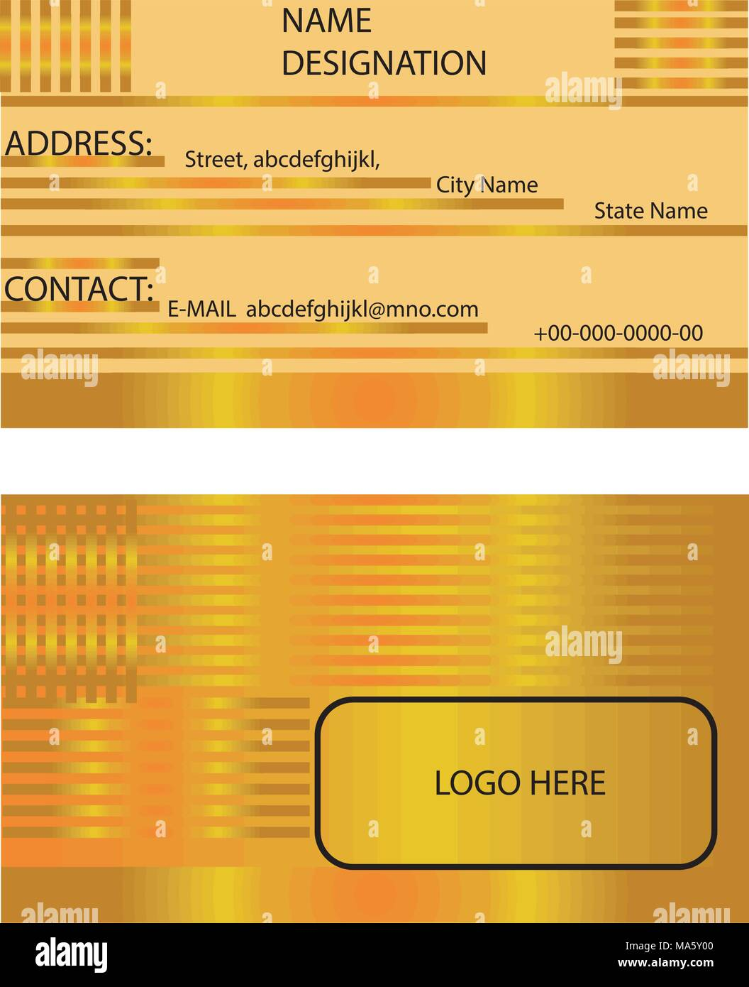 Creative business golden business card visiting card company card creative business golden business card visiting card company card template vector reheart Images
