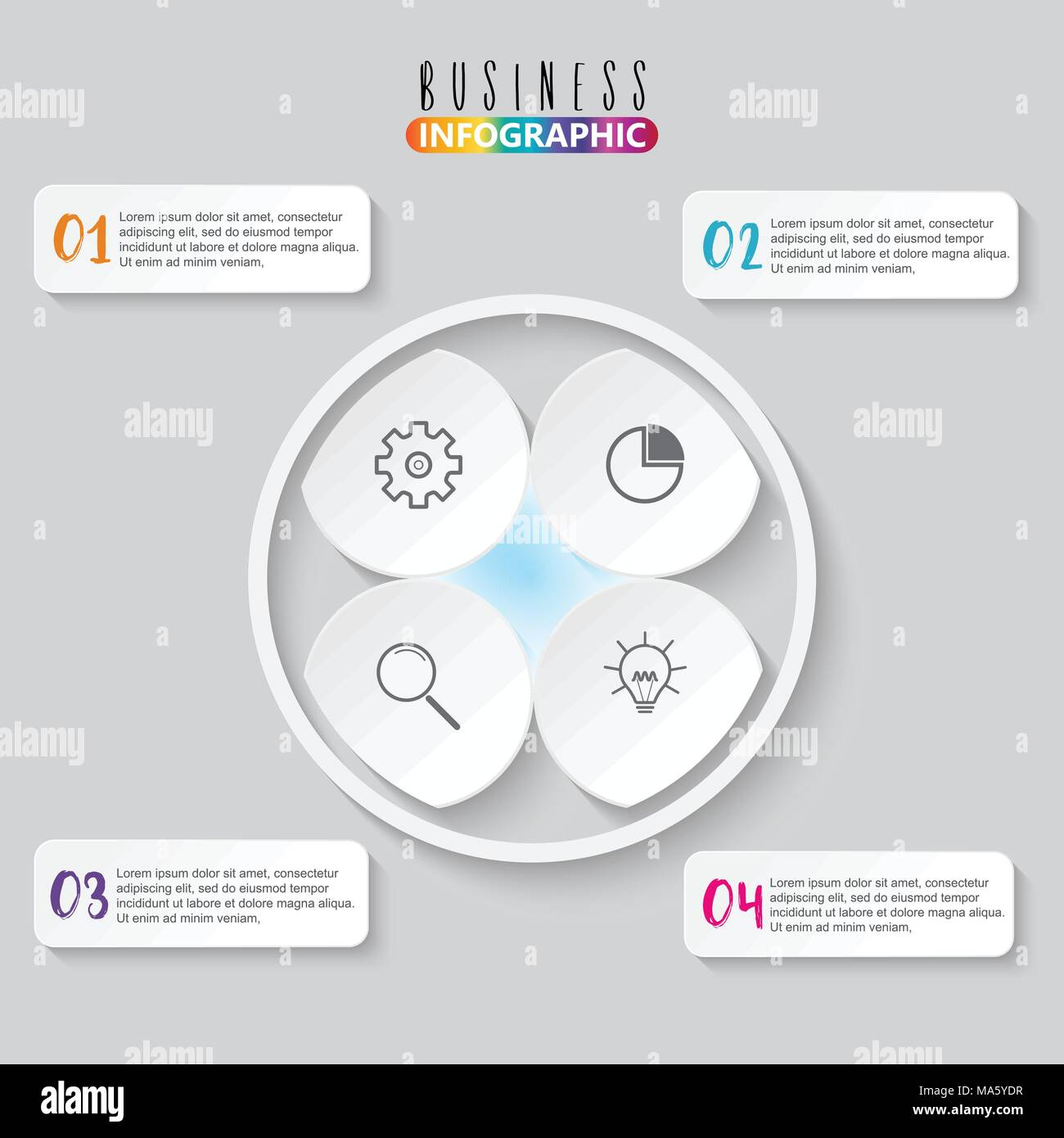 Infographic element with four options - Stock Image