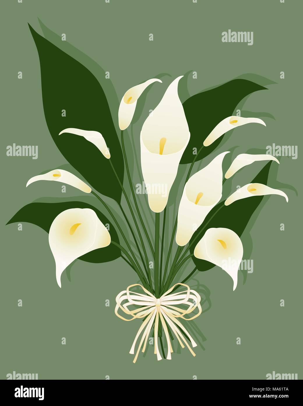 Calla lily flowers on rustic stock photos calla lily flowers on a vector illustration in eps 10 format of a bouquet of calla lilies with a rustic izmirmasajfo