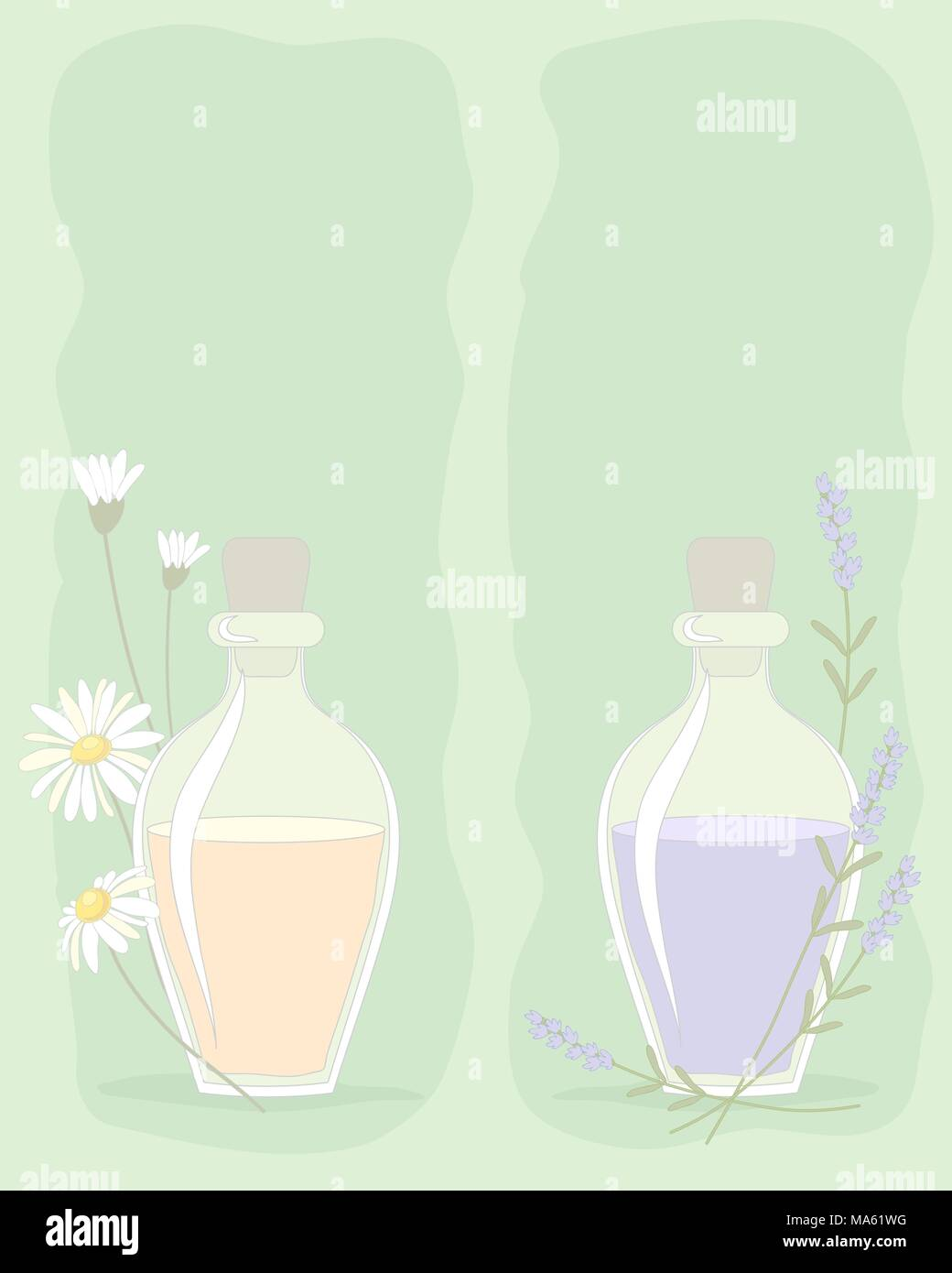Daisy perfume advert stock photos daisy perfume advert stock a vector illustration in eps 10 format of small bottles of essential oils with flower decoration izmirmasajfo