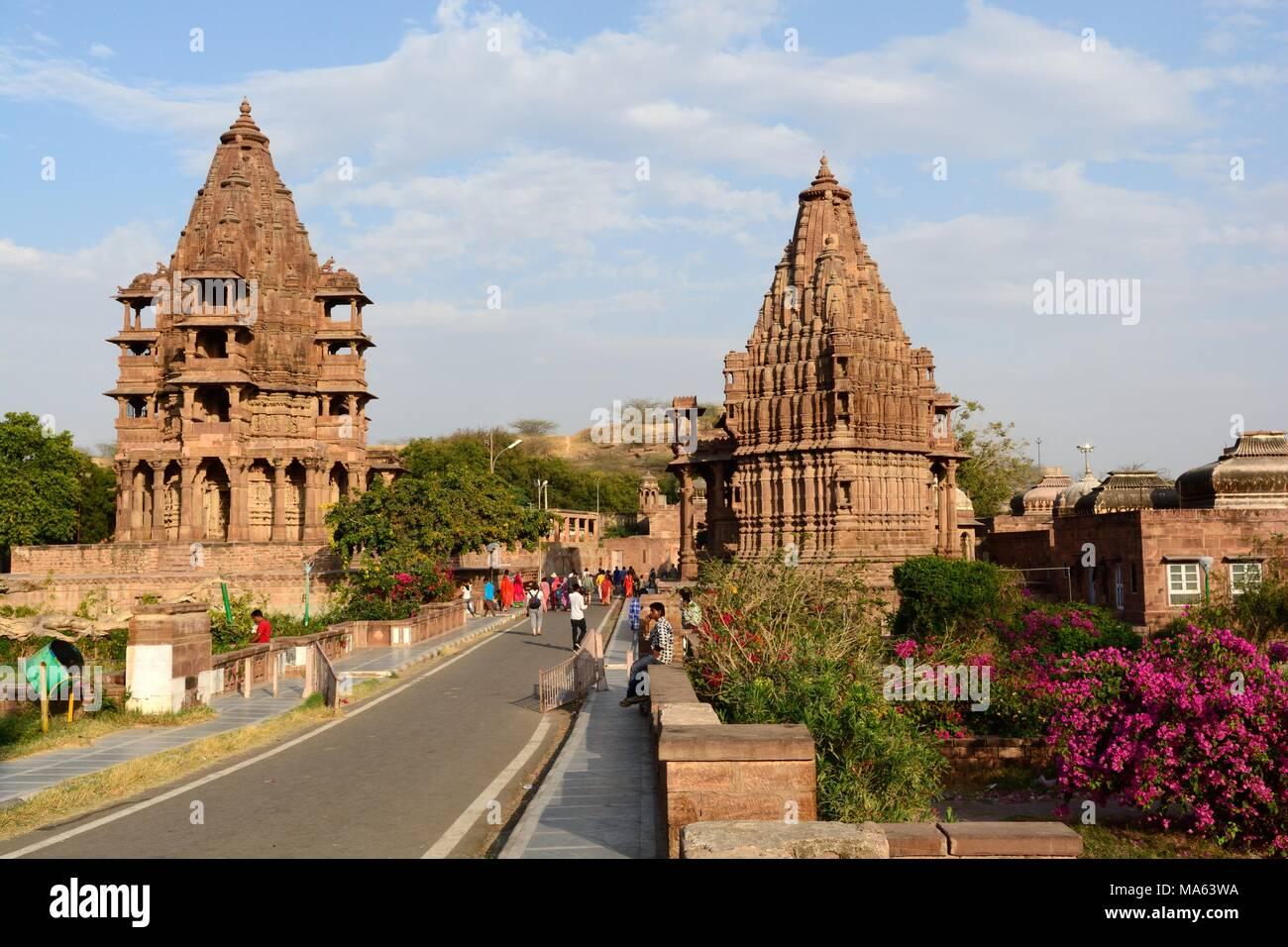 Mandore Gardens Temples and cenotaphs Jodhpur Rajashan india - Stock Image