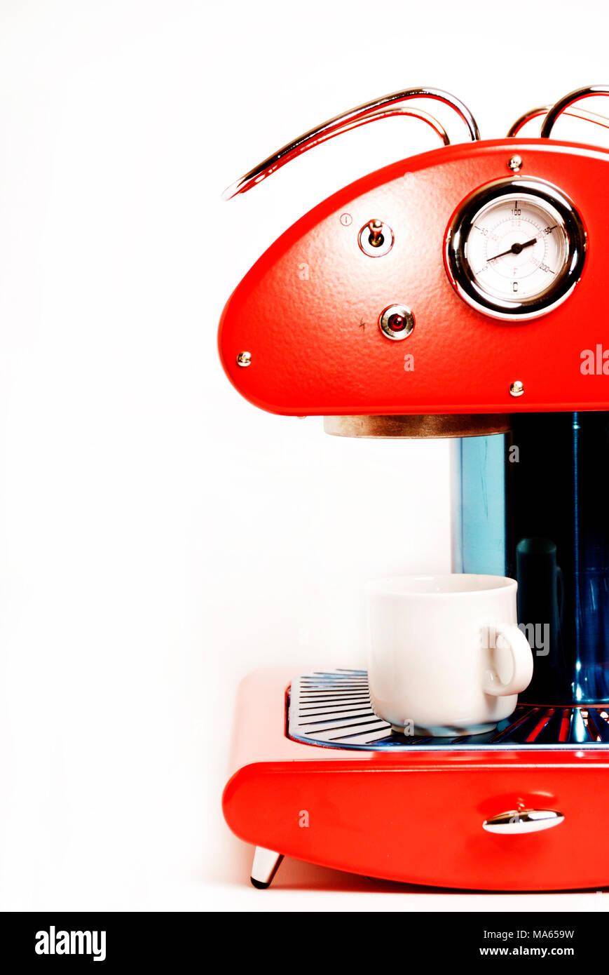 Retro Red Coffee Maker Stock Photo 178386149 Alamy