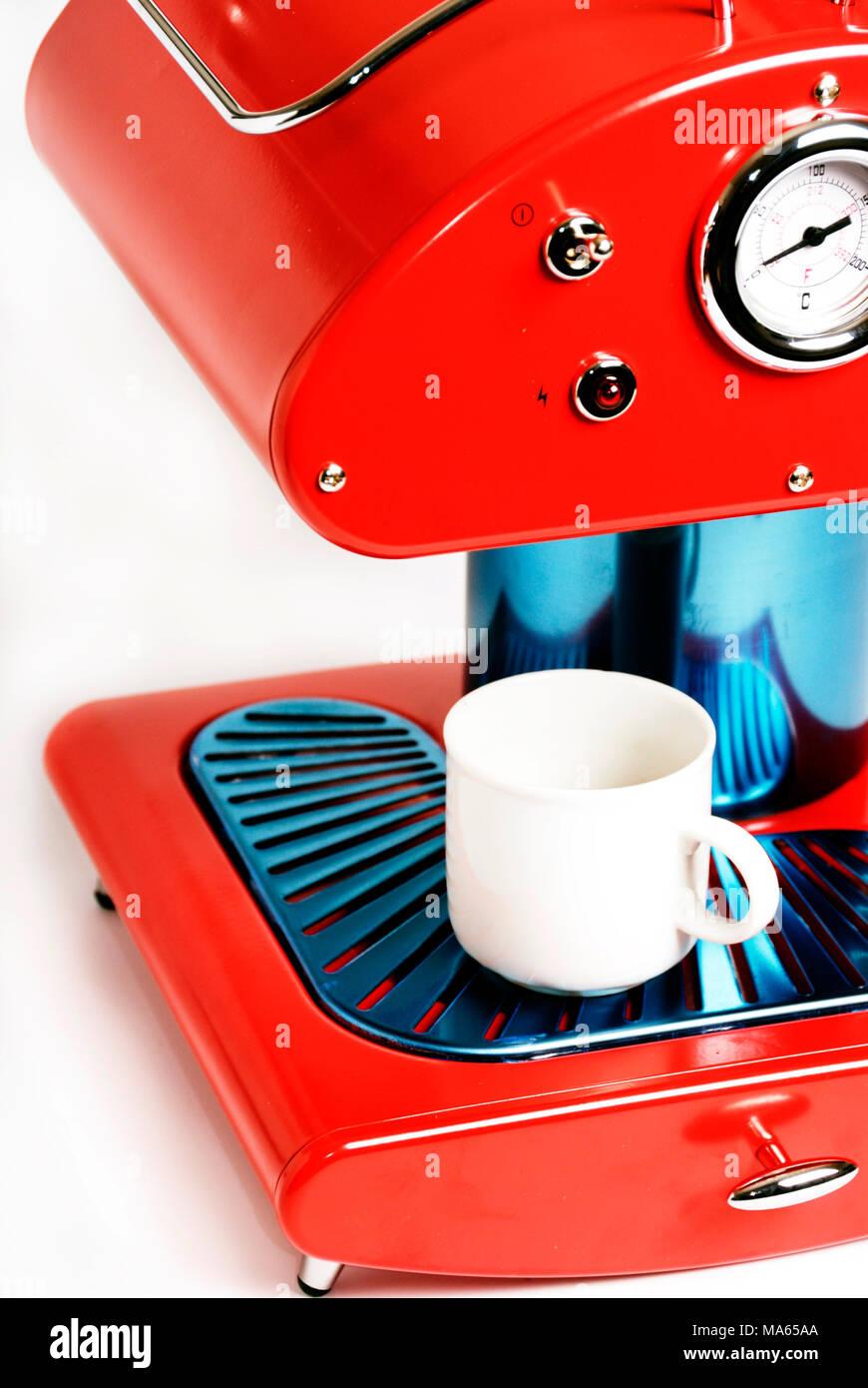 Retro Red Coffee Maker Stock Photo 178386162 Alamy