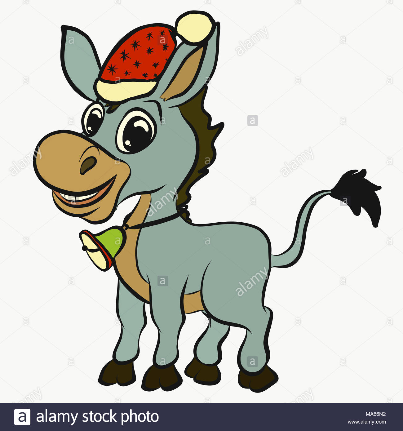 Weihnachten Funny.Cheerful Funny Donkey Celebrating Christmas Stock Photo 178387246