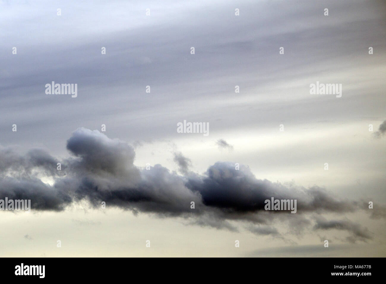 Overcast sky with dark clouds, The gray cloud ,Before rain - Stock Image