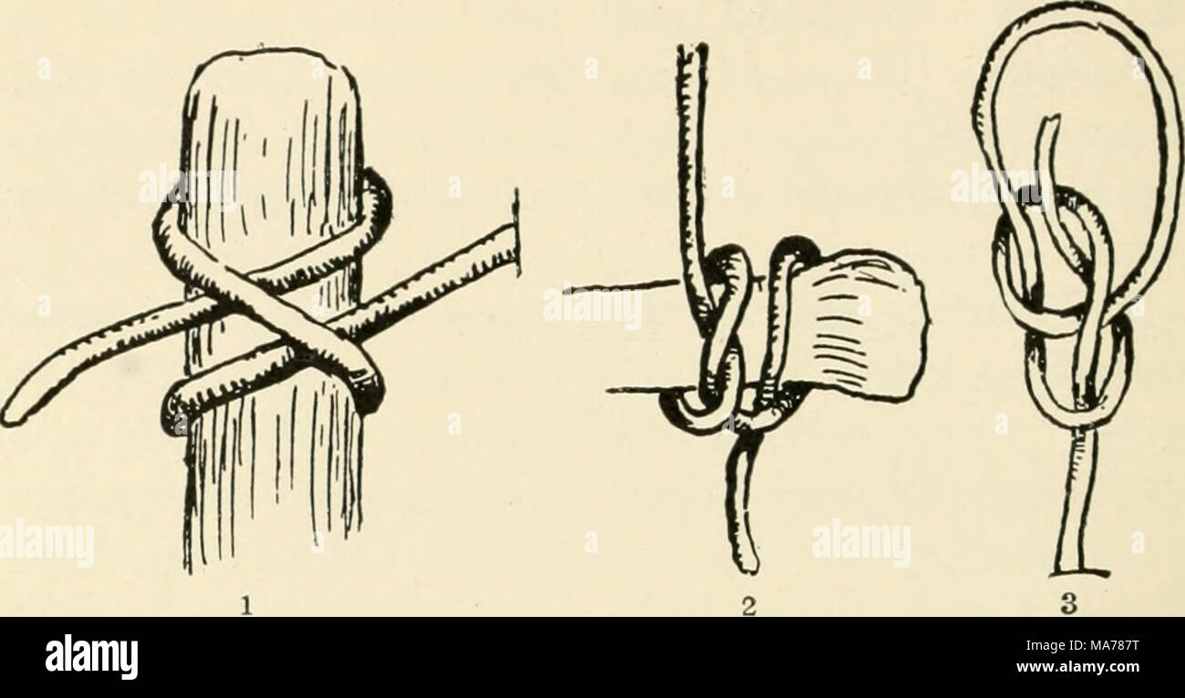 Clove Hitch Stock Photos Images Alamy Running Bowline Knot Diagram 2 Picket Rope With A Half