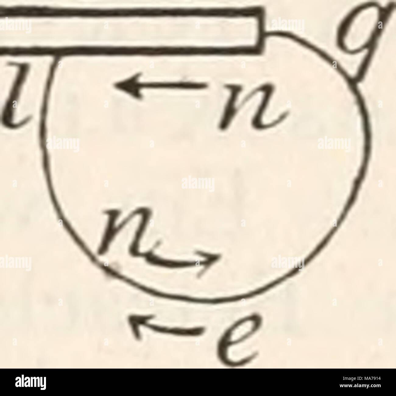 . Elektrophysiologie . den Zuwachs ausdrückt, und verbinden die Kuppen dieser Linien, so erhalten wir eine Curve, deren Gestalt uns ein anschauliches Bild von der an jeder Stelle auftretenden Veränderung der Spannung gewährt. In gleicher Weise stellen wir die Veränderungen an der Kathodenseite dar, nur ziehen wir, um gleich anzudeuten, dass hier die Spannungen negativ werden, die betreffenden Ordinaten nach abwärts vom Nerven als Abscissenaxe. Die beiden Curvenstücke lehren uns nur das Ver- halten der extrapolaren Nervenstrecken. In der That wissen wir nicht, wie sich der Nerv in der intrapola Stock Photo