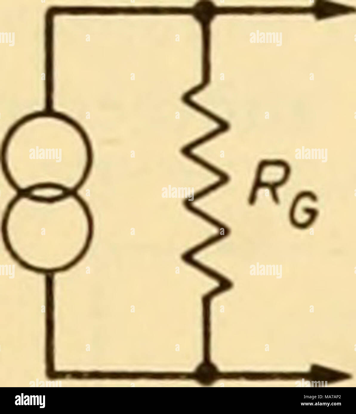 """. Electronic apparatus for biological research . ^c Figure 45.14 signal generator of internal resistance Rq (Figure 45.14) then these exact expressions^ follow: The current gain   a/o""""t   ^Re - Re ^' 61,, R, + R, + Rl The input resistance, /?{"""", that is, the resistance seen looking in at the input terminals with the generator temporarily disconnected but with the load connected, equals R^ + RX + 7^- The voltage gain,  ^nut   Rl The output resistance, Rq^u that is, the resistance seen looking back into the output terminals with the load temporarily disconnected but with the generator connected Stock Photo"""