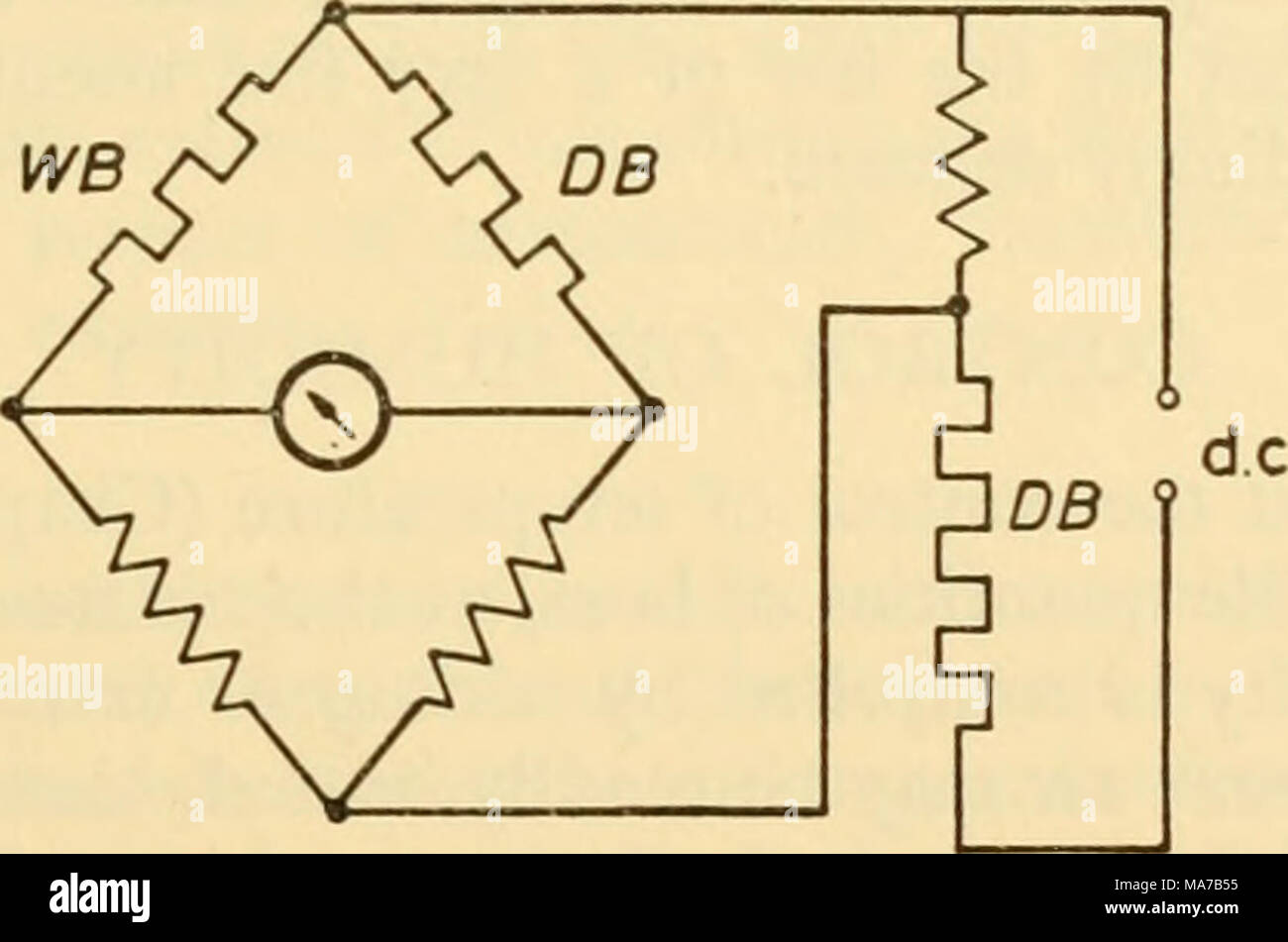 Resistance Thermometer Stock Photos Wiring Diagram Electronic Apparatus For Biological Research Figure 302 Schematic Layout Controlling The Voltage On