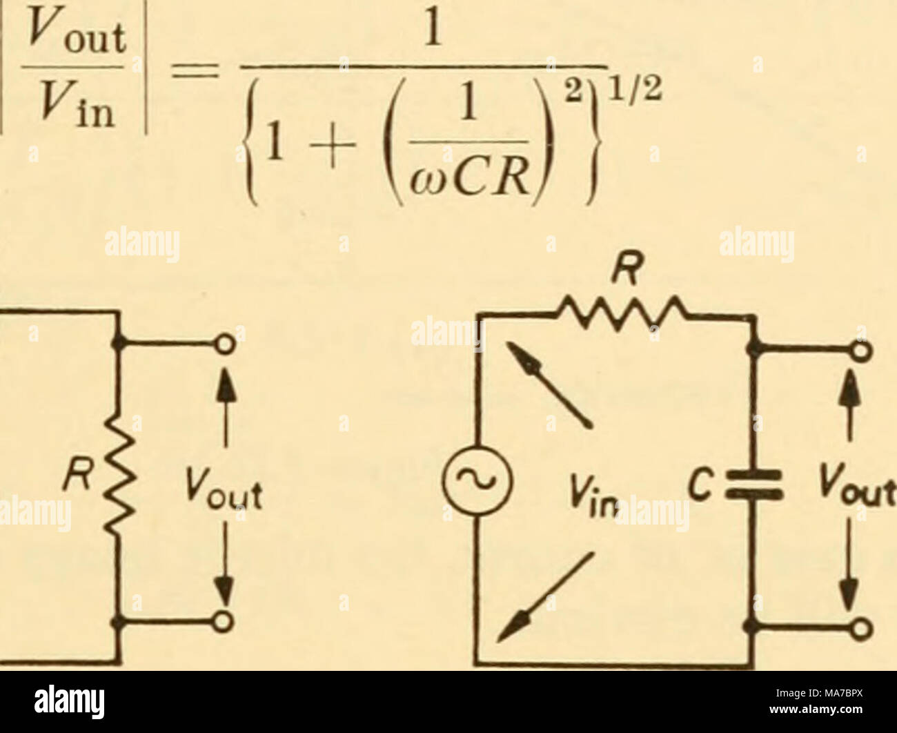 Low Pass Filter Stock Photos Images Alamy Schematic Diagram Electronic Apparatus For Biological Research Kn I K Figure 323 324