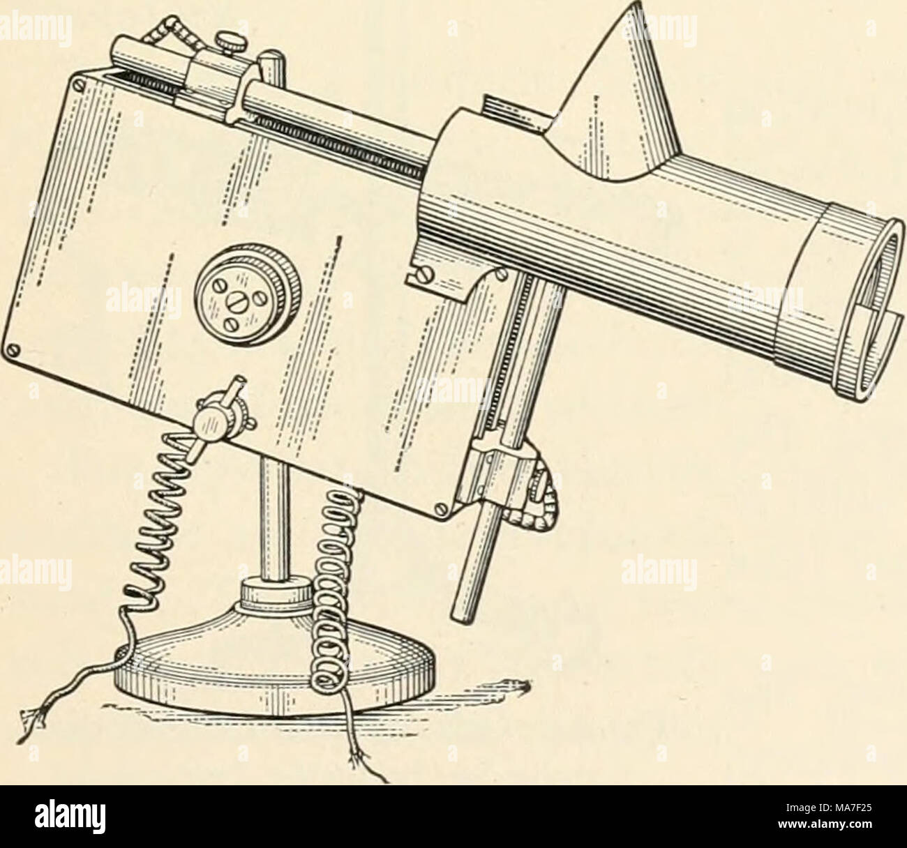 . Elementary chemical microscopy . Fig. 92. Microscope Lamp; Spencer Lens Co. Arc Type. - Stock Image
