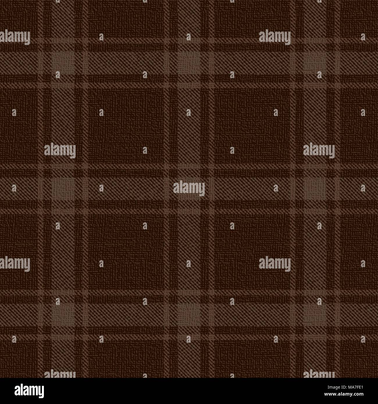 Brown plaid vector pattern background. - Stock Vector