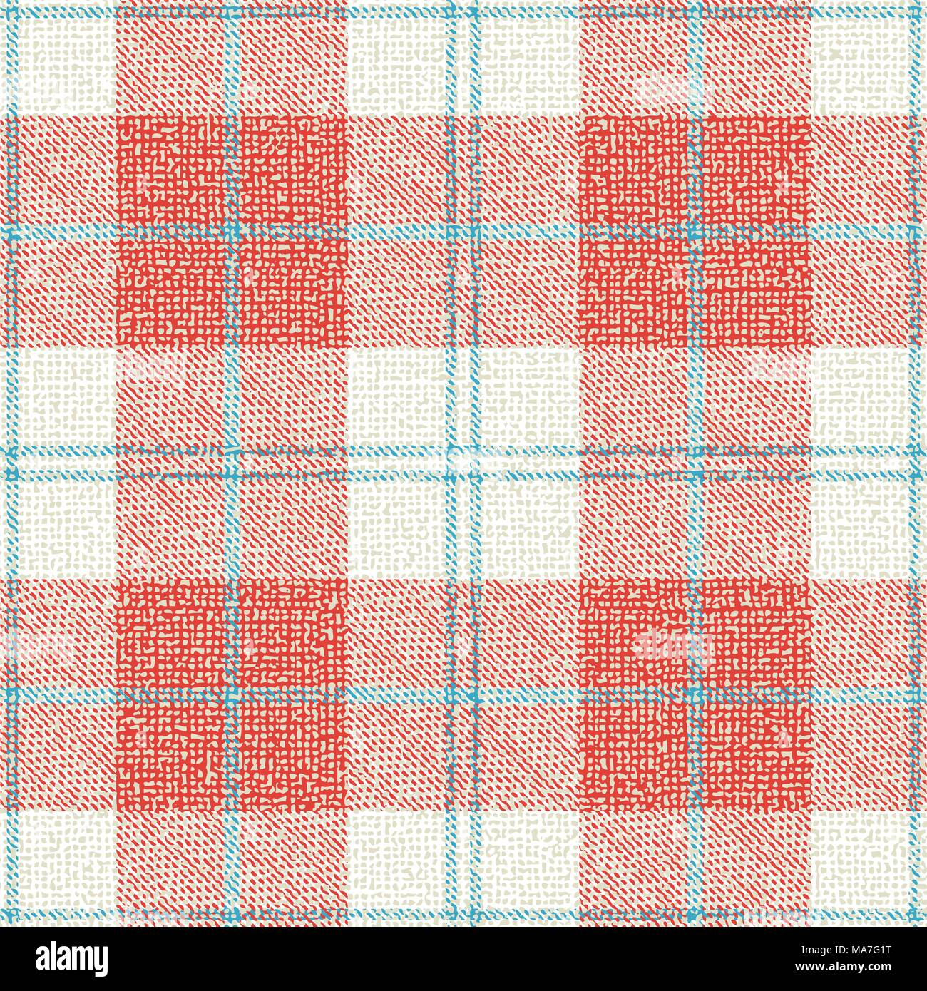 Plaid textured vector pattern background. - Stock Vector