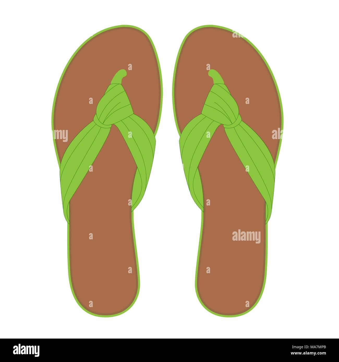 c7d6894397c5 Pair of light green flip flops