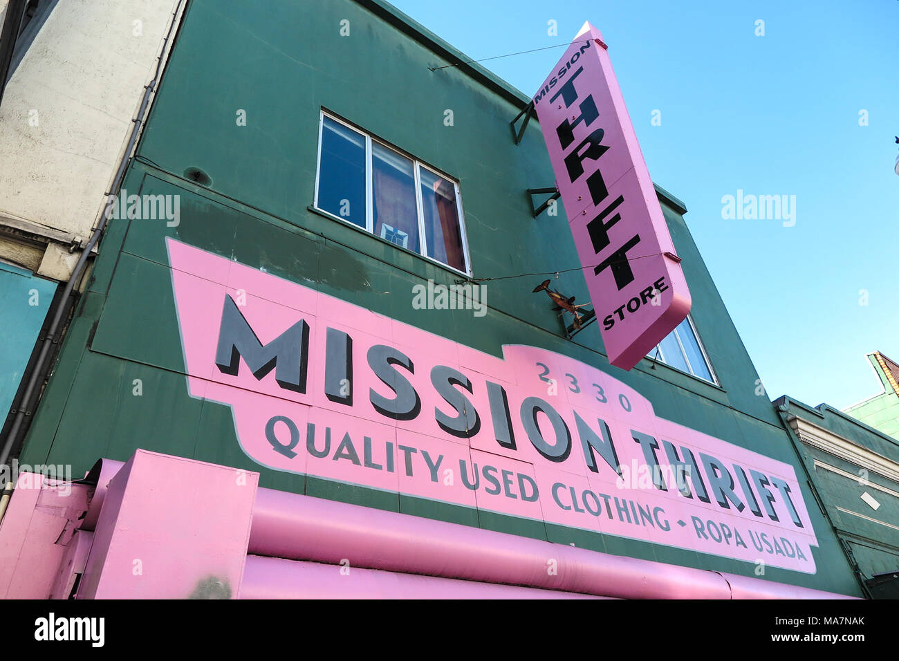 Thrift Shop San Francisco - Stock Image