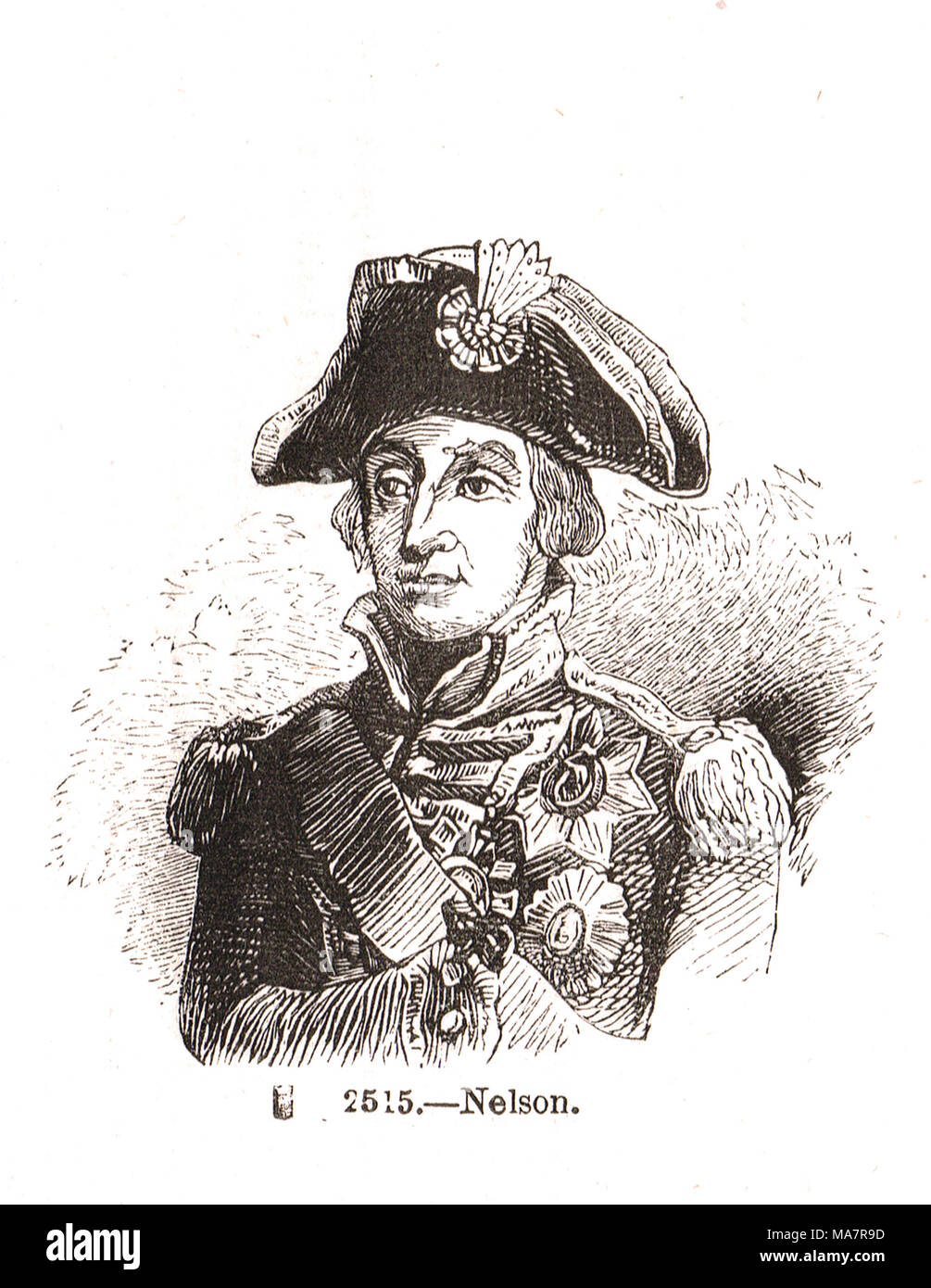Vice Admiral Horatio Nelson (1758-1805) Stock Photo