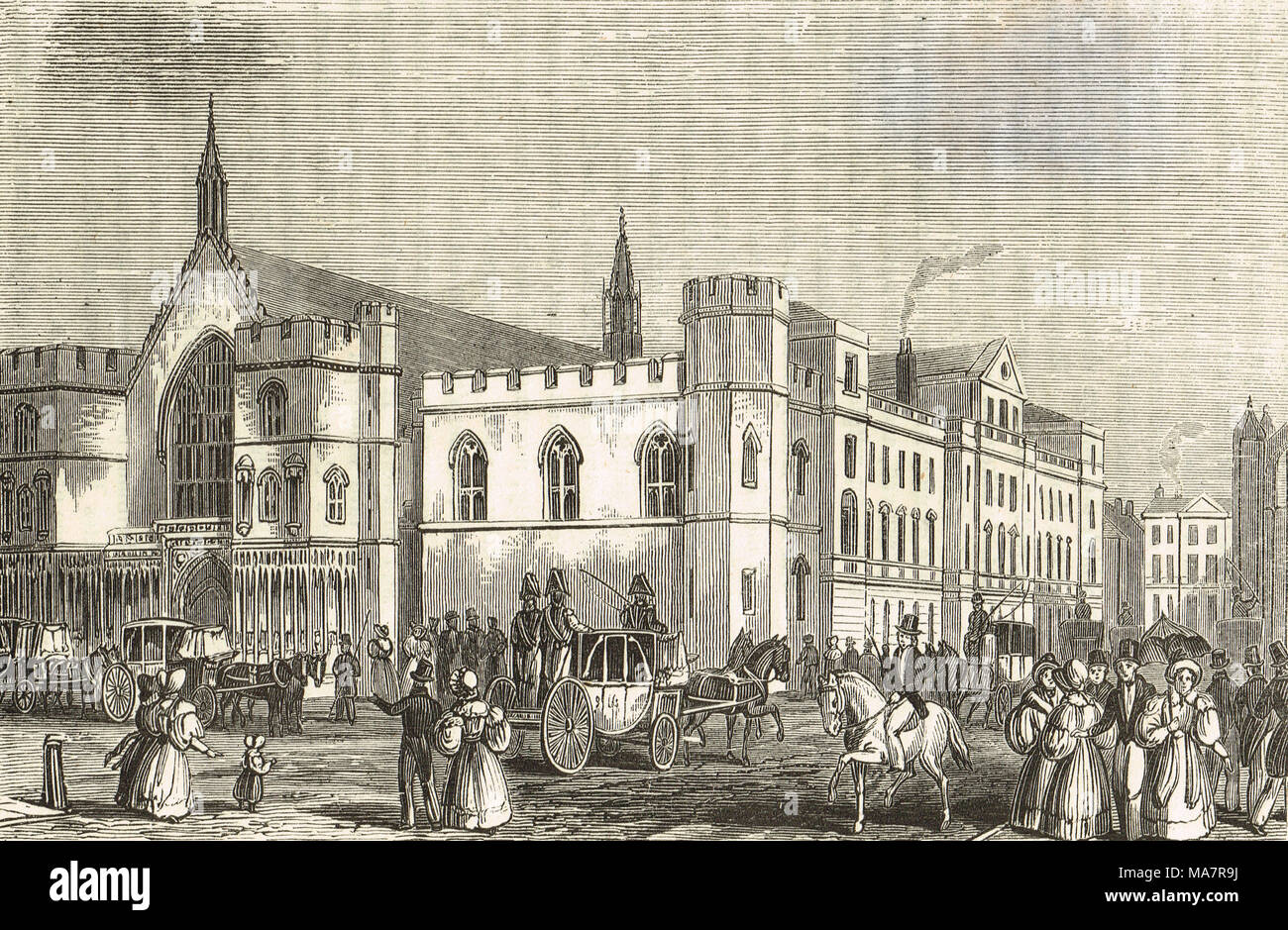 The Old House of lords and Commons, Pre fire of 1834 - Stock Image